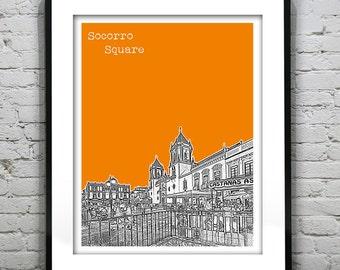 Ronda Spain Poster Art Print City Skyline Socorro Square