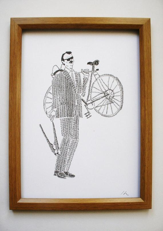 Bill Murray Bike print...