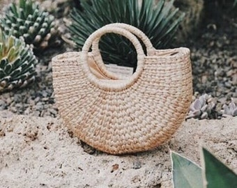 ABOVE I Summer Straw Basket - Natural