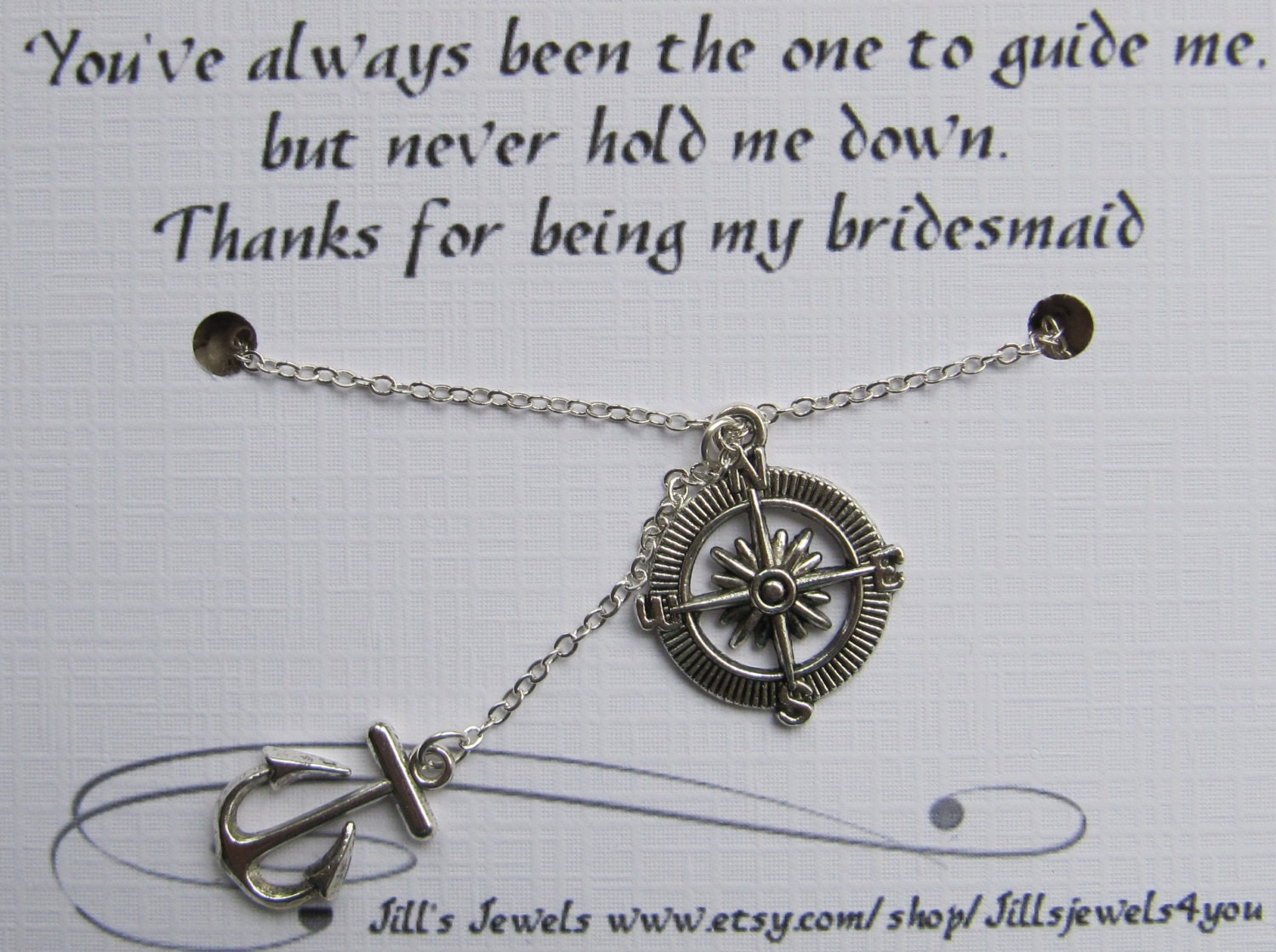 Quotes About Pearls And Friendship Compass And Anchor Charm Necklace With Friendship Quote