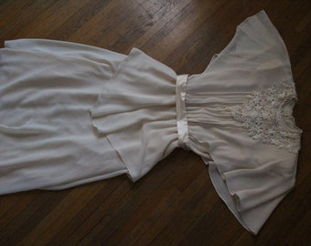 Creme Lace and Chiffon Dress