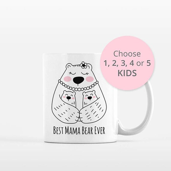 Mama Bear Mug Mom Mothers Day Gift from Kids Twins Triplets from Daughter from Son Mom Mug Mom Birthday Gift for Mom Gift Mom Coffee Mug