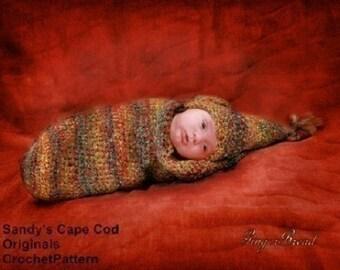 Elf Cocoon and Elf Hat Crochet Pattern PDF 202
