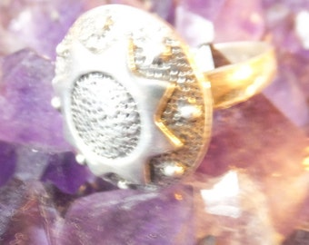 Sterling silver Sun Ring ...... size 8.5 only