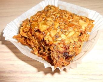Energy Bars Gluten Free Vegan Bars Peanut Butter Dunkin Bars, Chopped Peanuts