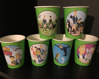 10 Wild Kratts Birthday Party Paper Cups | 12 ounces | Version 2