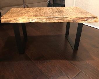 Live Edge Sierra Pine Hand Milled Coffee Table
