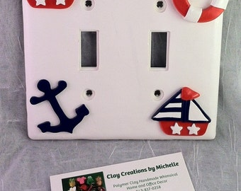 Nautical Double Switch Plate