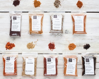 African & Middle East Spice Set - Gift for Foodie - Ras El Hanout - Baharat - Harissa - Sumac - Za'atar - Berbere - Pul Biber - Aleppo Biber