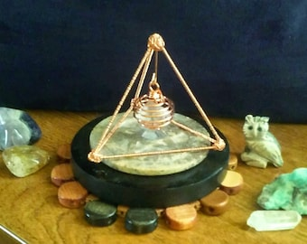 Crystal Charging Pyramid/ Equilateral Triangle/ Copper Pyramid