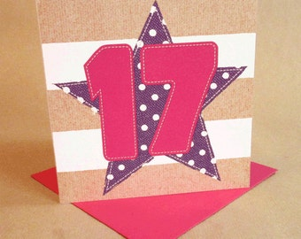 Age 17 Girl Birthday Card