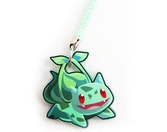 Doublesided 1.5 Inch Bulbasaur Charm