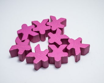 Pink Carcassonne Meeples Board Game Small People Pawn Pieces