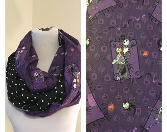 Nightmare Before Christmas scarf- now available in regular and infinity! Jack skellington