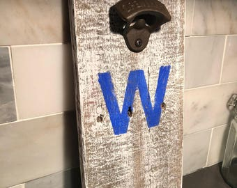 Cubs W Wall Mounted Bottle Opener