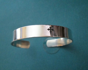Serenity Prayer bracelet  Solid sterling silver  not plated Jewelry Serenity Prayer engraved on the inside
