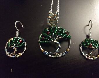 Tree of life jewelery set
