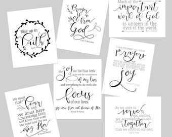 LDS Multiple Visiting Teaching Conference 2016 Quote Digital Print Pack / Visiting Teaching handouts and printables