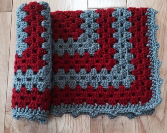 Ohio State Crocheted Baby Blanket, Ohio State Baby Blanket, Baby Blanket, Security Blanket, Lovey, Photo Prop