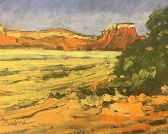 New Mexico Landscape near Ghost  Ranch, Original Oil Painting Landscape, Big Sky, Western Art,Santa Fe NM Painting, Dessert Art