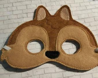 Woodland Mask, Chipmunk Mask