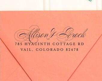 Address Stamp, Return Address Stamp, Self Inking Return Address Stamp, Wedding Return Address Stamp, RSVP Stamp, Calligraphy Stamp - No. 30