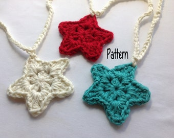 Instant Download Crochet Pattern, Crochet Star Garland Pattern, Crochet Baby Pattern, Crochet Star Pattern, Crochet Ornament Pattern