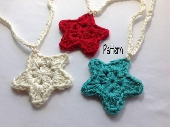 Instant Download Crochet Pattern Crochet Star Garland Pattern