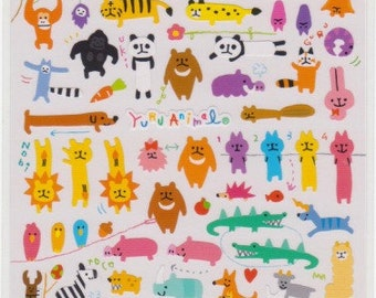 Animal Stickers - Yuru Animals - Japanese Stickers - Mind Wave Stickers - Reference S5722-23U5739
