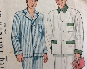 Simplicity 1617 mens pajamas size 38 vintage 1930's sewing pattern