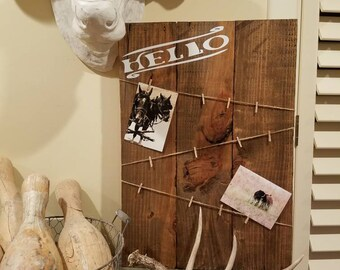 Rustic Photo/Note Frame