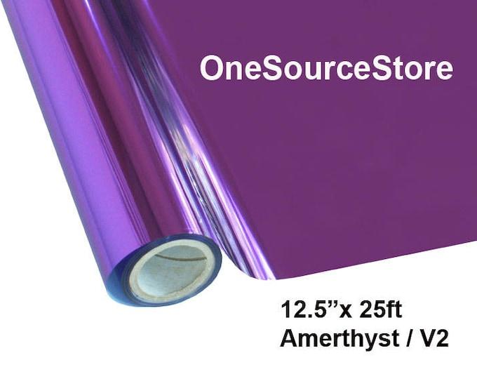"""HTV Textile Foil* / 12.5 """"x 25 ft / Amethyst / V2"""