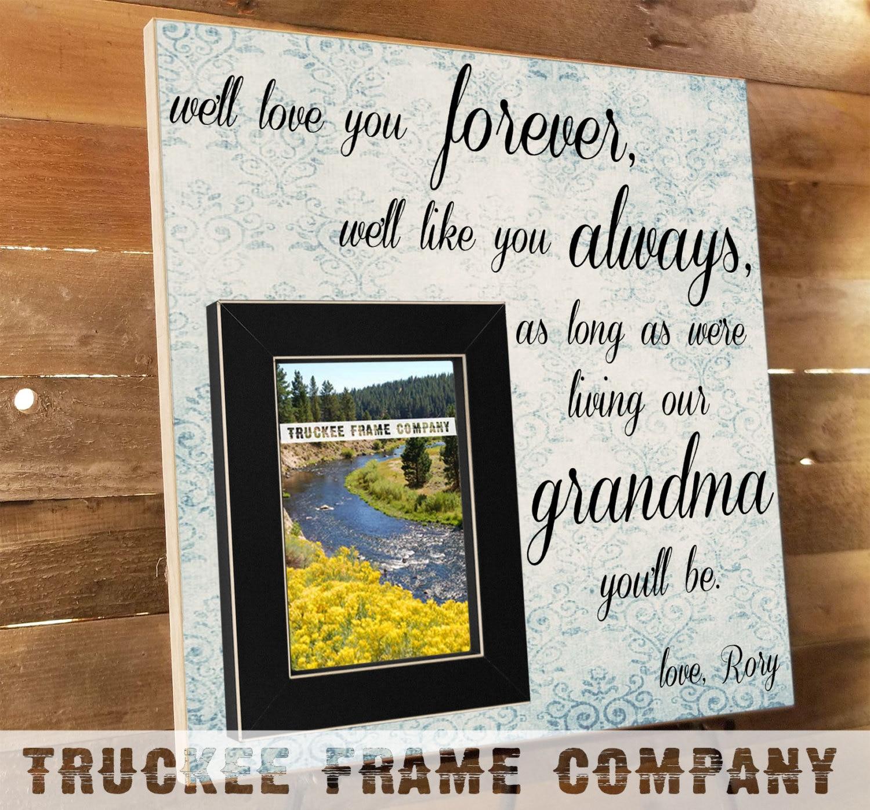 Old Fashioned I Love Grandma And Grandpa Picture Frame Image ...