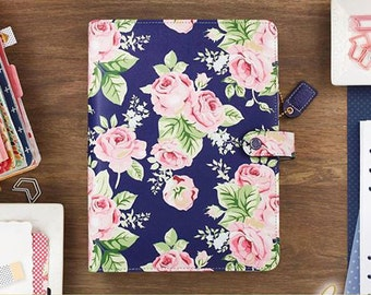 New Webster's Pages Navy Floral A5 Planner Kit
