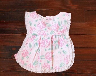 baby girl apron pinafore floral print dress 6-9mos