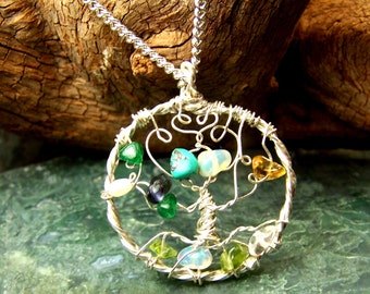 Families Joining necklace - Wedding gift - in laws - mother of the bride - Family Tree of Life necklace pendant brooch pin Sterling SIlver