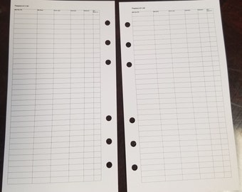 printed password list  personal size planner inserts,password tracker, login tracker, website tracker