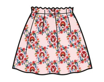 Cameos Skirt _ Alice Collection _ Model of skirt Carlotta