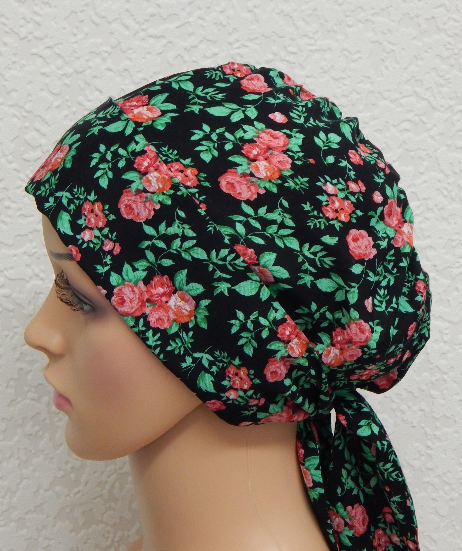 cancer floral foulard sur la t te chimioth rapie usure de la. Black Bedroom Furniture Sets. Home Design Ideas