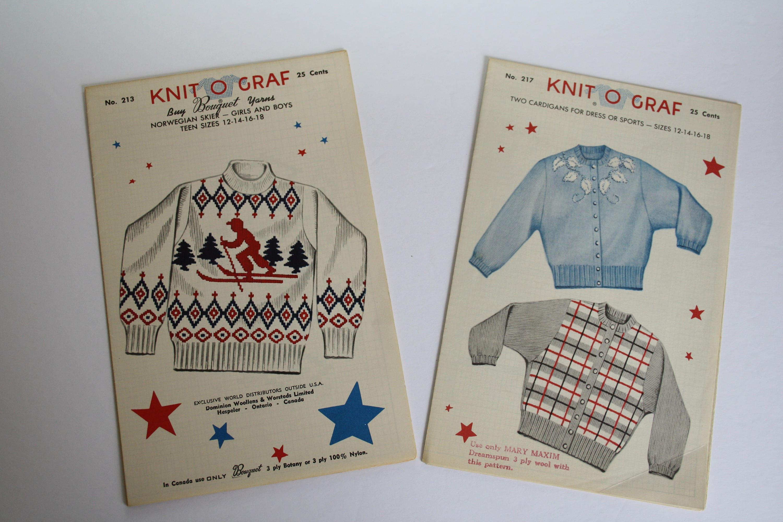 Knit O Graf Childrens Cardigan Knitting Patterns Girls Boys sweater ...