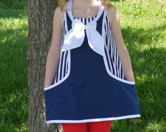 Huge Sale ... Girls Tunic Top PDF Sewing Pattern ... Sailor Top Pattern ... Trixie Tunic