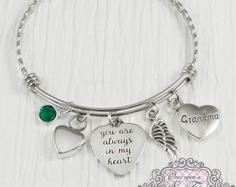 URN BRACELET, Cremation Bracelet- Loss of Grandma Bracelet, Remembrance, Baby, Mom Memorial, You are always in my heart, Wing, Bereavement
