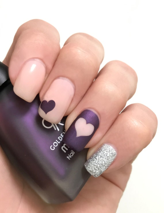 Hearts and Stars nail art vinyls incredible nail stencils by