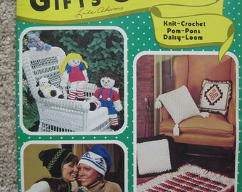 Knit and Crochet Pattern Book - Gifts Galore Book 17410 - Vintage 1977