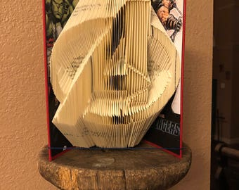 Avengers Book Art - With Inside Cover Decorations