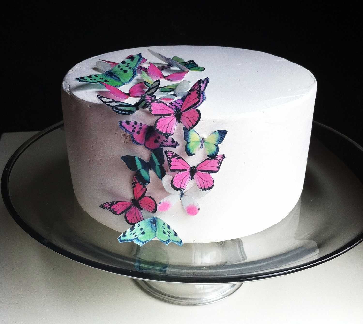 edible wedding cake decals edible butterfly cake decorations 24 green and pink edible 13917