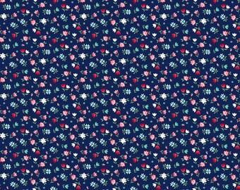 A Little Sweetness Navy Floral by Tasha Noel for Riley Blake, 1/2 yard