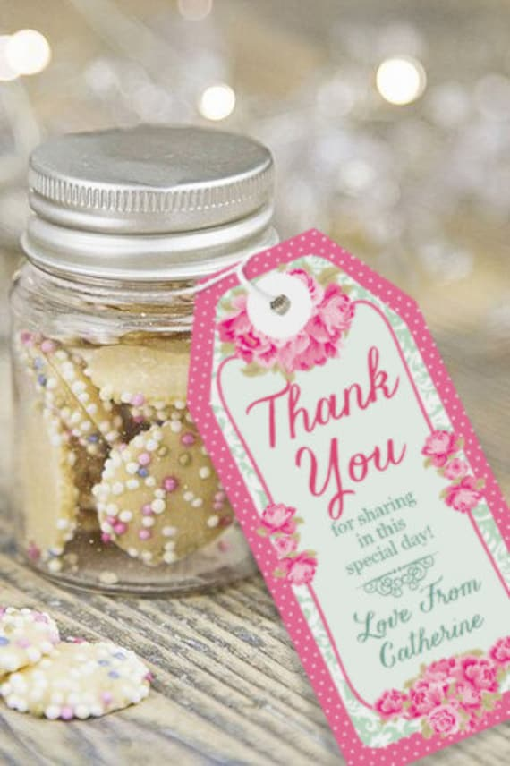 Thank You Gifts For Wedding Party: High Tea Party Favor Tags Thank You Tags Instantly