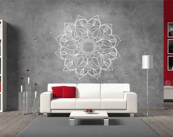 Walltattoo Mehndi Decor NR177-Yoga studio vinyl sticker-Mandala Wall sticker-Love Mandala Wall-vinyl sticker Mehndi Decals