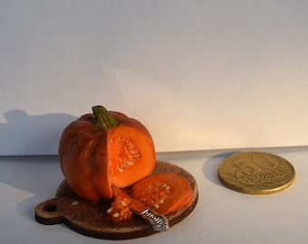 Dollhouse  realistic food ,  miniature food ,   Realistic pumpkin, realistic miniatures ,Miniature pumpkin